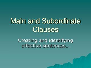 creation and consequences of subordinate group status Simple examples and definition of a subordinate clause a subordinate clause or dependent a noun clause is a group of words that acts as a noun in a sentence they begin with relative an adjective is a descriptive word adjective clauses are groups of words that act as an adjective in a.