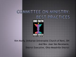 Committee on Ministry:  Best Practices