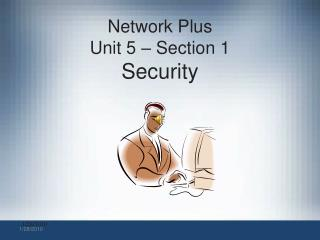 Network Plus Unit 5 – Section 1  Security
