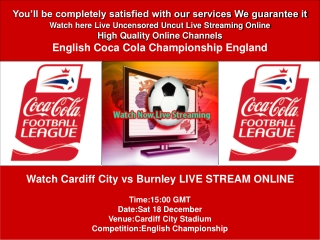 CARDIFF CITY VS BURNLEY LIVE STREAM ONLINE TV SHOW