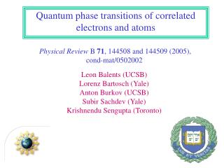 Quantum phase transitions of correlated electrons and atoms