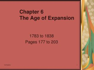 Chapter 6 The Age of Expansion