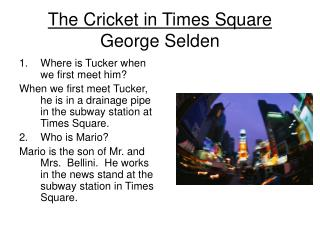 The Cricket in Times Square George Selden