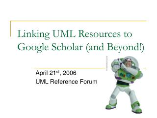 Linking UML Resources to Google Scholar (and Beyond!)