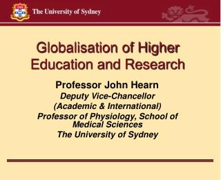 Globalisation of Higher Education and Research