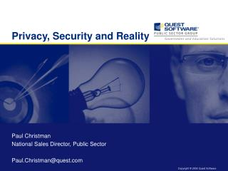 Privacy, Security and Reality