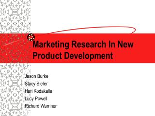 Marketing Research In New Product Development