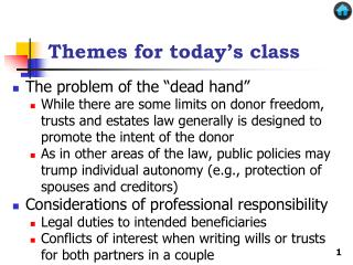Themes for today's class