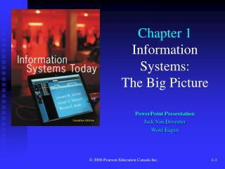 Chapter 1 Information Systems: The Big Picture