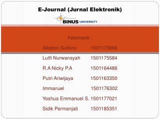 E-Journal ( Jurnal Elektronik )