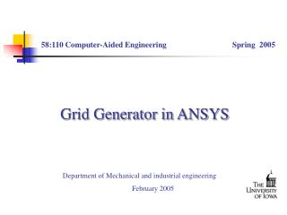Grid Generator in ANSYS