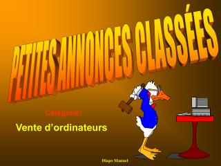 Vente d'ordinateurs
