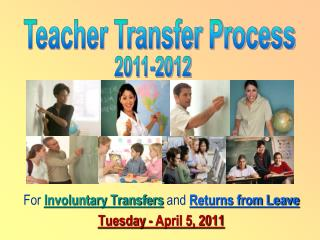 For  Involuntary Transfers  and  Returns from Leave Tuesday - April 5, 2011