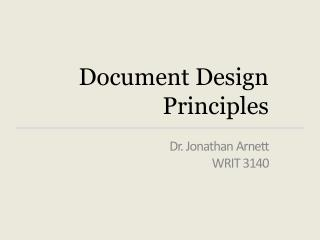 Document Design  Principles