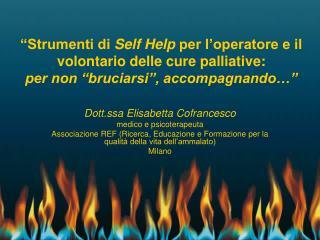 Dott.ssa Elisabetta Cofrancesco medico e psicoterapeuta