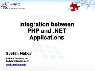 Integration between PHP and .NET Applications