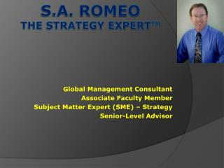 s.a. romeo the strategy expert ™