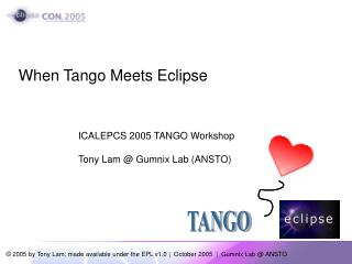 When Tango Meets Eclipse