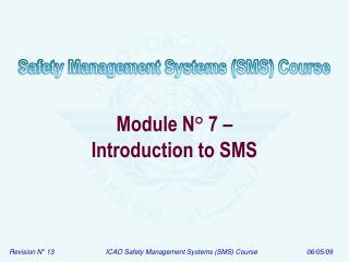 Module N ° 7 – Introduction to SMS