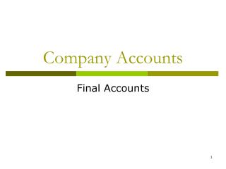 Company Accounts