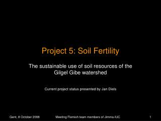 Project 5: Soil Fertility