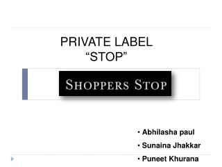 "PRIVATE LABEL ""STOP"""