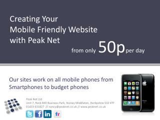 Creating Your Mobile Friendly Website with Peak Net