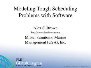 Modeling Tough Scheduling Problems with Software