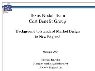 Texas Nodal Team Cost Benefit Group