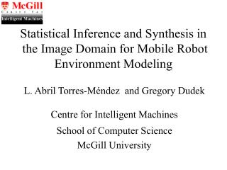 Statistical Inference and Synthesis in  the Image Domain for Mobile Robot Environment Modeling