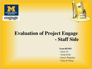 Evaluation of Project Engage - Staff Side