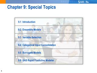 Chapter 9: Special Topics