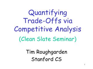 Tim Roughgarden Stanford CS