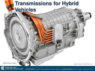 Transmissions for Hybrid Vehicles