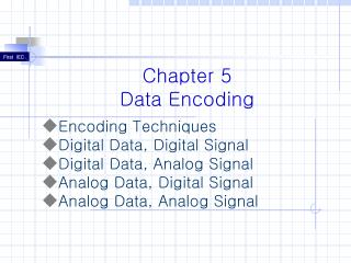 Chapter 5 Data Encoding