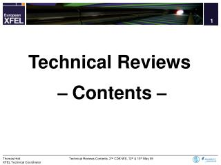 Technical Reviews –  Contents  –