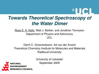 Towards Theoretical Spectroscopy of the Water Dimer
