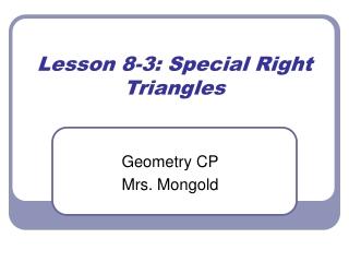 CP Lesson 8