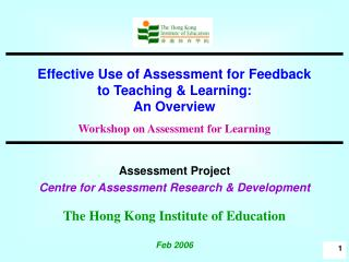 Assessment Project  Centre for Assessment Research & Development