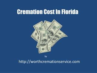 Cremation cost in florida