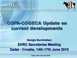 COPA-COGECA Update on current developments