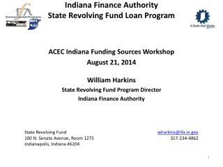 Indiana Finance Authority State Revolving Fund Loan Program