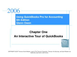Using QuickBooks Pro for Accounting 5th Edition Glenn Owen