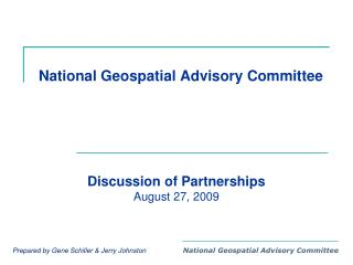 National Geospatial Advisory Committee