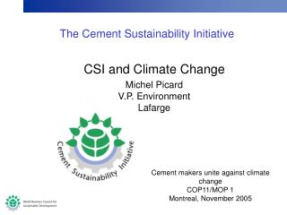 The Cement Sustainability Initiative