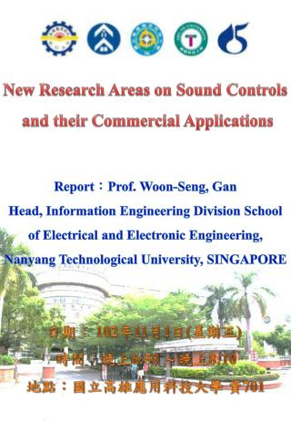 New Research Areas on Sound Controls  and their Commercial Applications