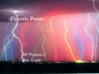 -Electric Power