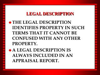 LEGAL DESCRIPTION
