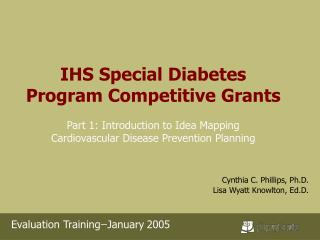 IHS Special Diabetes Program Competitive Grants Part 1: Introduction to Idea Mapping