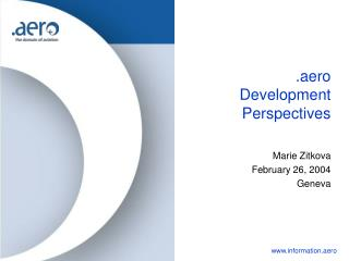 .aero Development Perspectives